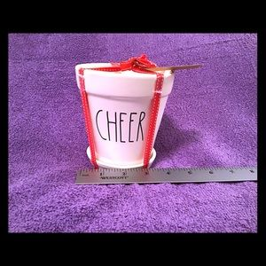 NEW Rae Dunn Cheer Planter with attached Saucer